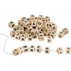 Cubes de lettres en bois à...