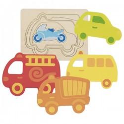 puzzle à couches, véhicules